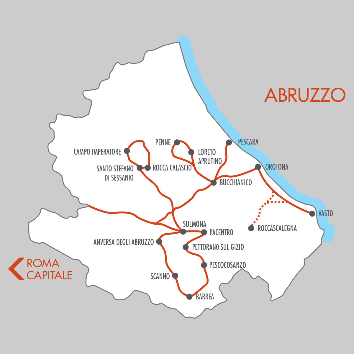Abruzzo Italy 11 Day Tours Map Italy tour packages