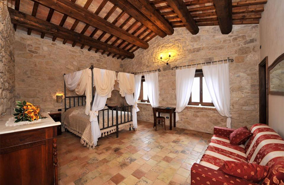 This restored borgo is the kind of exquisite accommodation we stay at on Italian Provincial Tours' Abruzzo Italy small group tours