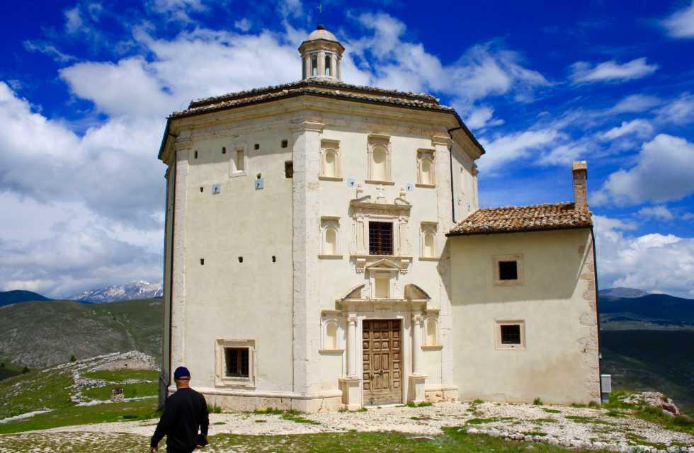 Church of Saint Maria of Pietà near Rocca Calascio, Abruzzo Tours Italy