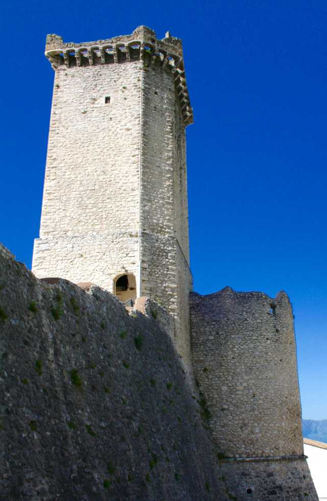 The majestic towers of Caldora Castle, Pacentro Italy on a Private Italy Tour