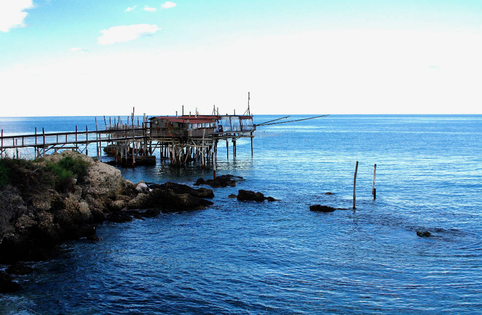 Trabocco (fishing hut) in Abruzzo Travel Italy