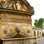 Roman aqueduct and fountain in Sulmona, Abruzzo Italy