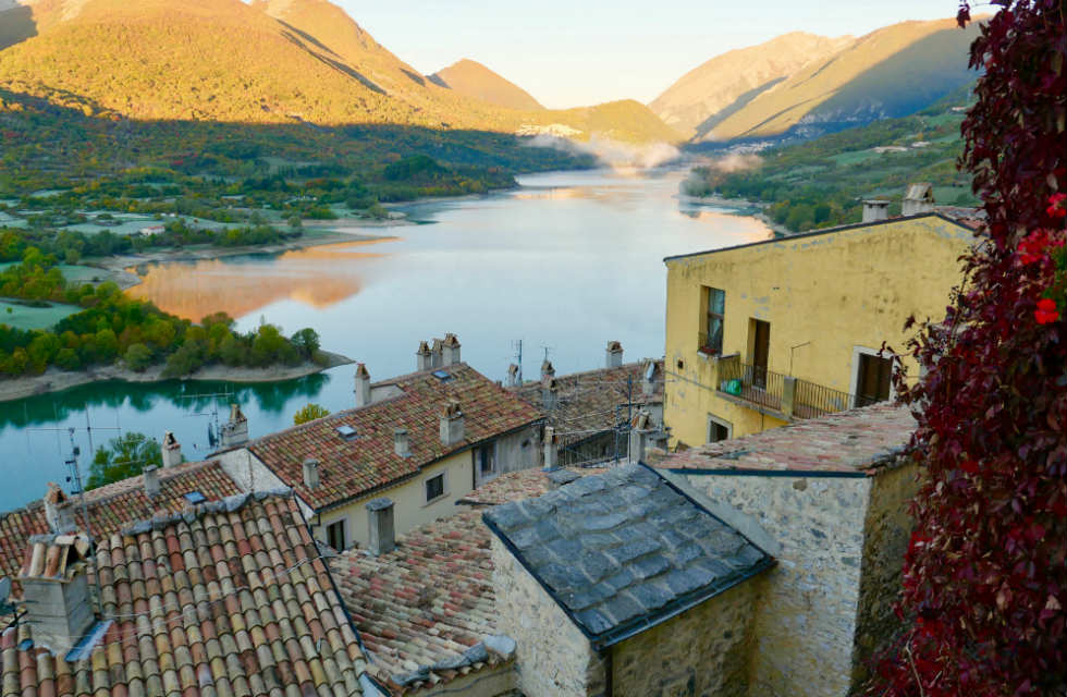 View from B&B, La Scarpetta di Venere in Barrea
