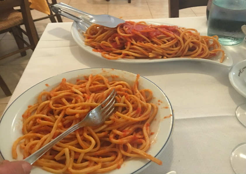 Pasta-alla-chitarra-with-plain-tomato-sugo-on-small-group-tour-abruzzo