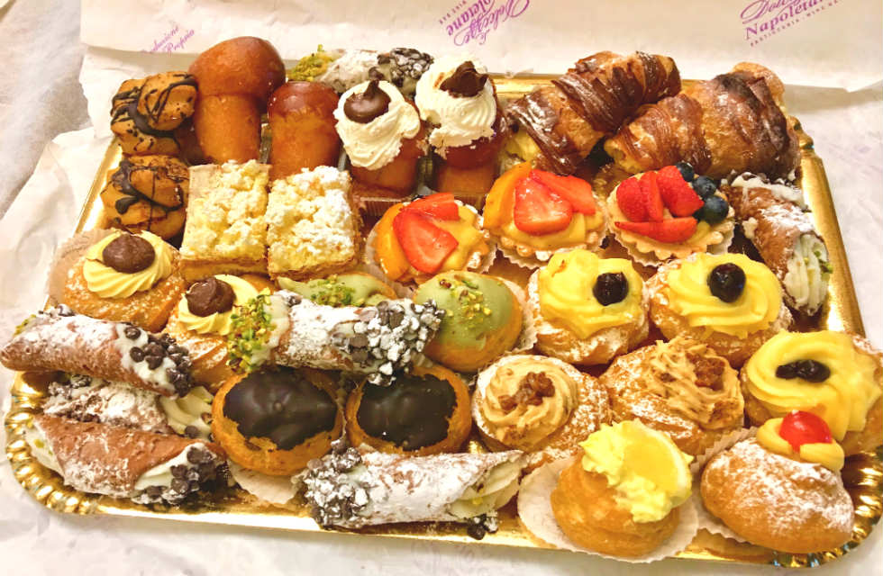 Colourful Assortment of Italian cakes and pastries in Abruzzo