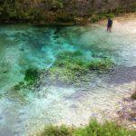 Clear river in Abruzzo in Fara San Martino