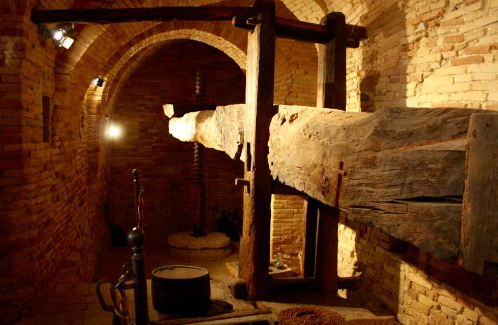 Private Italy Tours Ancient olive press at the museum in Bucchianico