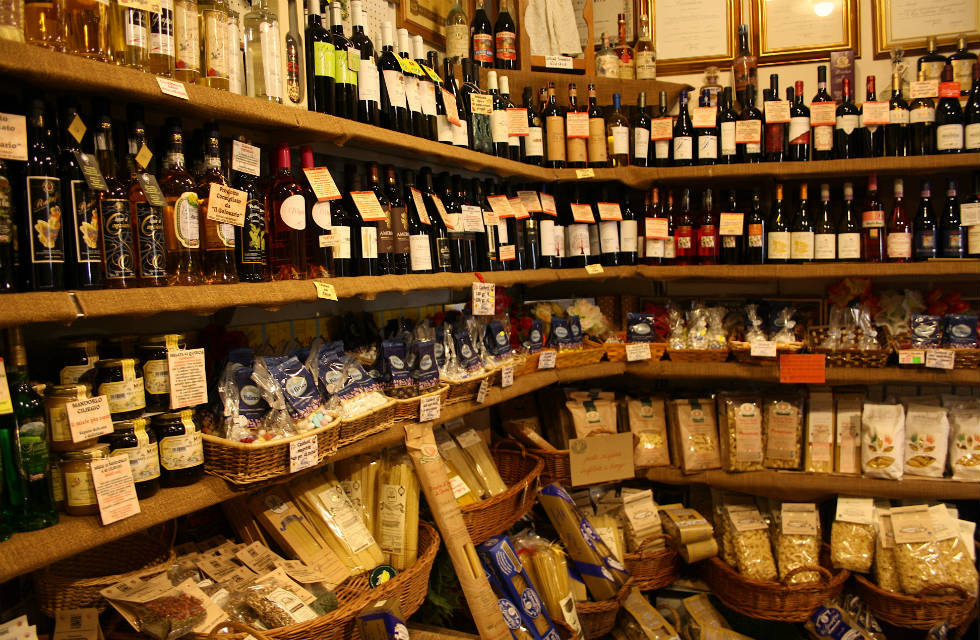 Local Abruzzese produce store in Scanno, Abruzzo on Italian Provincial Tours' food tour Italy