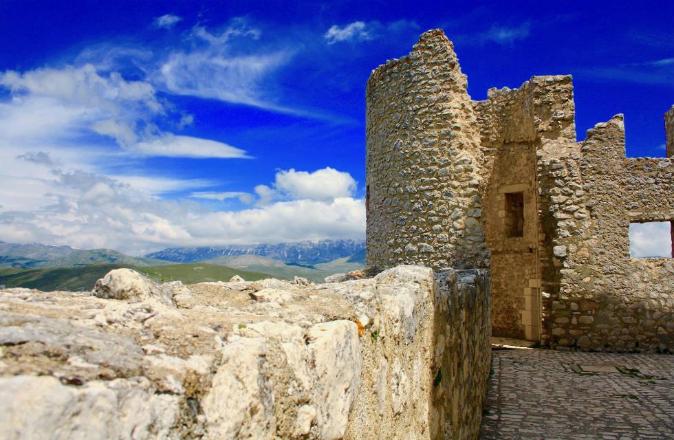 Travel Italy, view from Rocca Calascio, Abruzzo Italy
