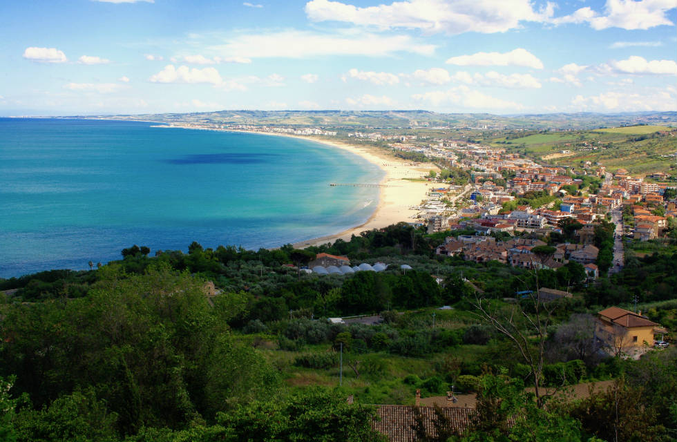 View of the cost from Vasto, Abruzzo in Italy see it with Abruzzo tour guides
